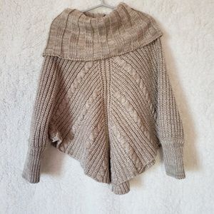 Crazy 8 Cowl Neck Poncho Sweater